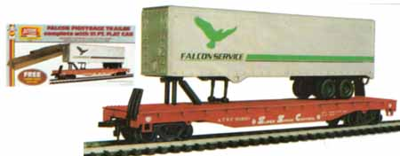 AHM 51ft Flat Car with 40ft Trailer