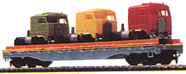 Flat Car with Trucks