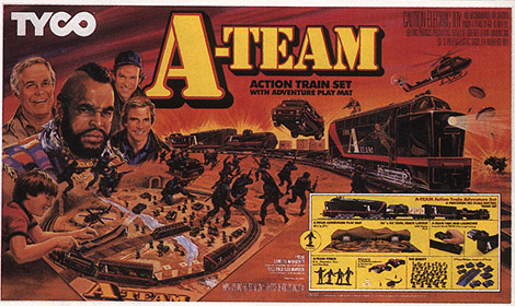 TYCO A-Team Train Set from 1984