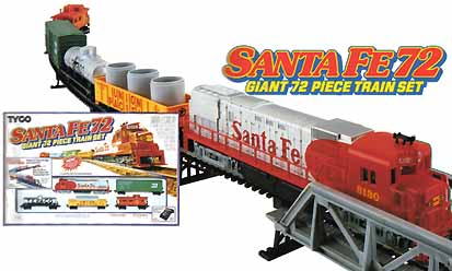 TYCO Santa Fe 72 Train Set from 1993