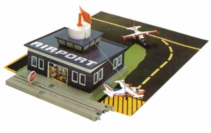 TYCO US-1 Airport with Flying Airplane #3435