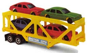 TYCO US-1 Auto Transport with 4 Cars #3946
